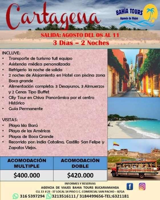 Tour Cartagena Salidas Agosto