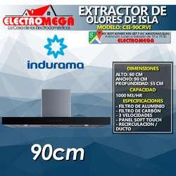 Campana Extractor De Olores 90cm Indurama Touch De Isla