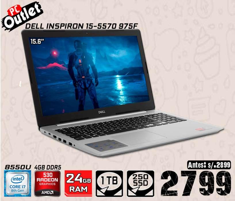 Laptop DELL INSPIRON 15-5570 P75F INTEL CORE i7-8550U @1.99GHz