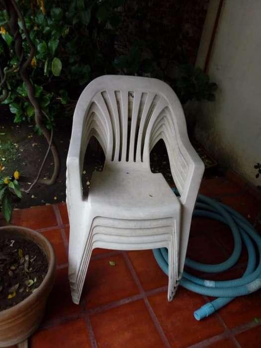 5 <strong>silla</strong>s de Plástico Mascardi