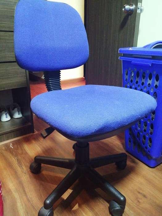 Silla <strong>escritorio</strong> Azul Ajustable
