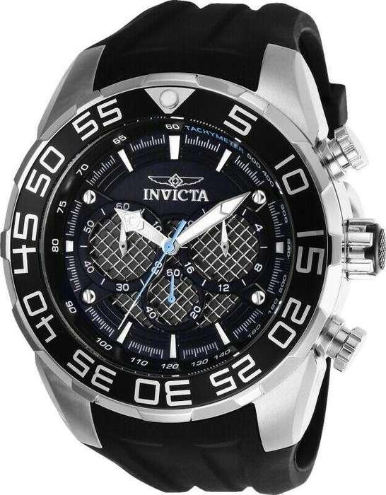 Reloj Hombre Invicta Speedway Crono Plateado Negro 26314
