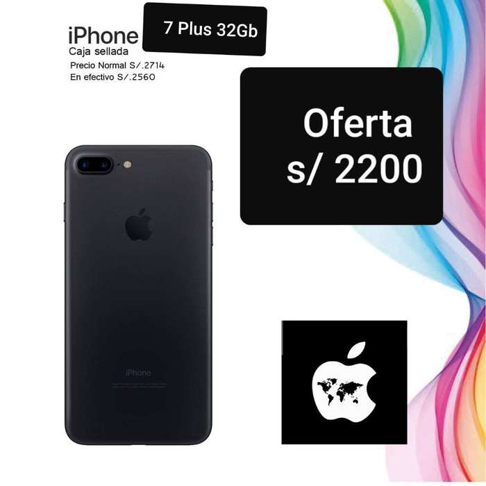 iPhone 7 Plus 32gb Sellado Libre Mundial