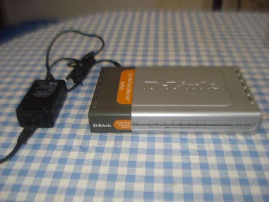 Switch 8 Puertos Dlink Des1008d 10/100 C/fuente,caja,manua