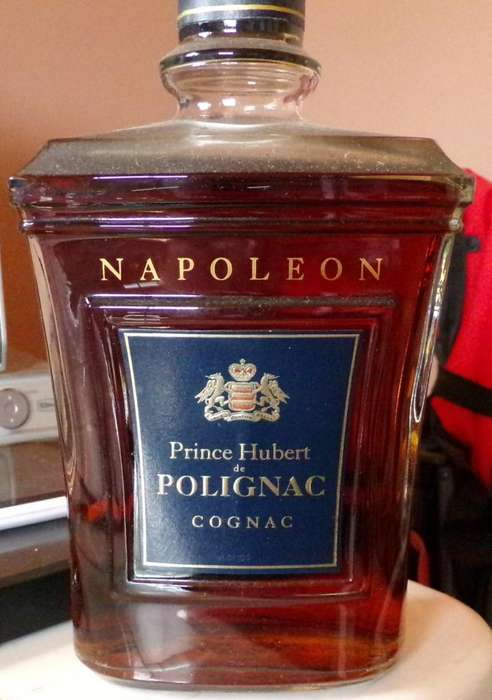 Cognac Napoleon Prince Hubert de Polignac. Francia 1980