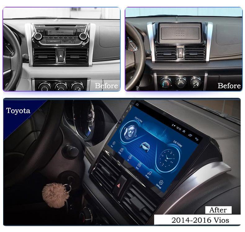 ANDROID TOYOTA YARIS 2014 2016 AUTORADIO WIFI GPS
