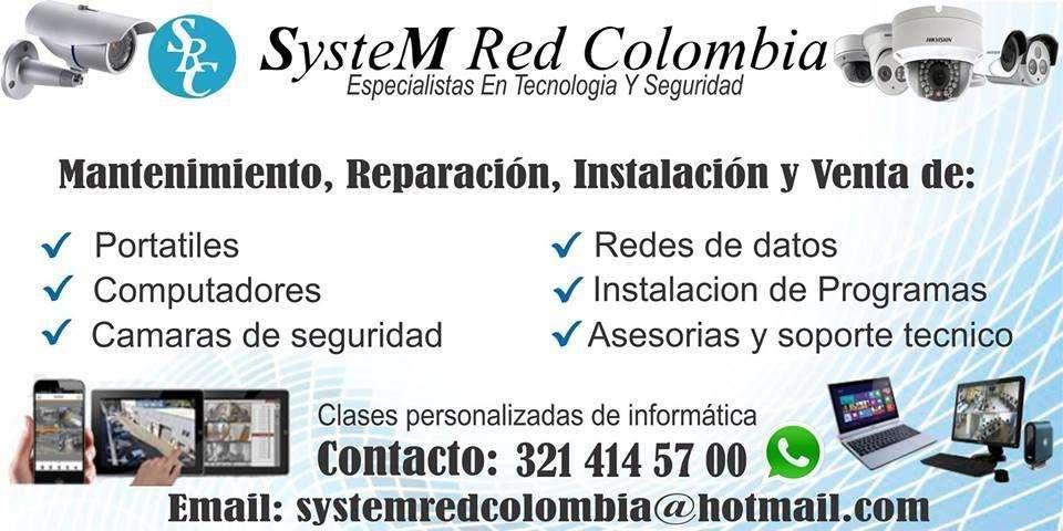 SYSTEM RED COLOMBIA OFRECE EL SERVICIO DE INSTALACIÓN DE CÁMARAS DE SEGURIDAD Y MANTENIMIENTO DE COMPUTADORES SRC