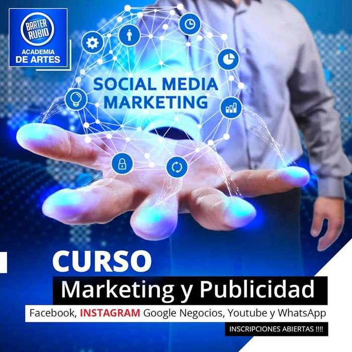 Curso de Marketing y Publicidad en Facebook, Instagram, Google Negocios, Youtube y WhatsApp