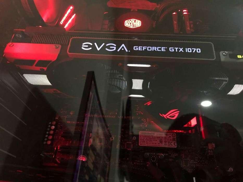 Tarjeta gráfica EVGA GTX 1070 de 8GB, ¡como nueva!