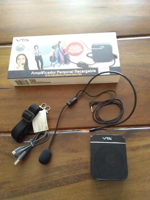 Amplificador Personal Portatil VTA Recargable 10w Con Microfono