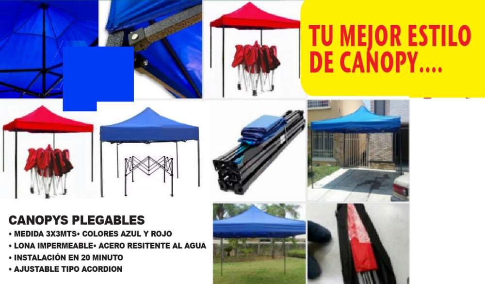 CANOPIS 3X3MTS TIPO ACORDION, IMPERMEABLES 1125 NUEVOS