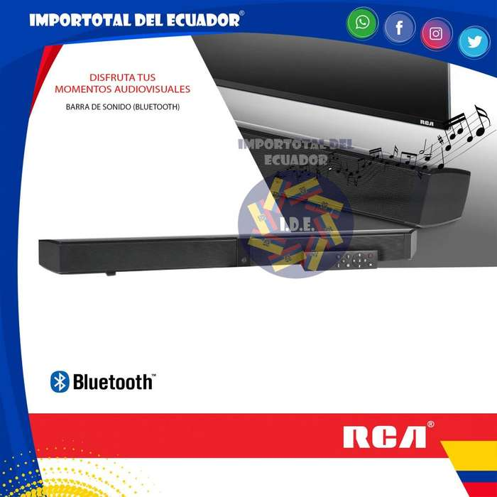Barra de sonido con control remoto ''nueva'' cine en casa para mesa o pared con bluetooth / Marca Rca mod. SBP810