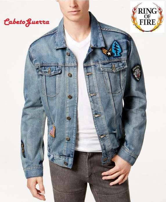 Chaqueta Jean Ring Of Fire Light Patch Denim Jacket Original