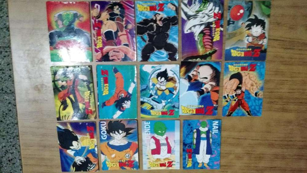 Lote Tarjetas Dragon Ball Navarrete