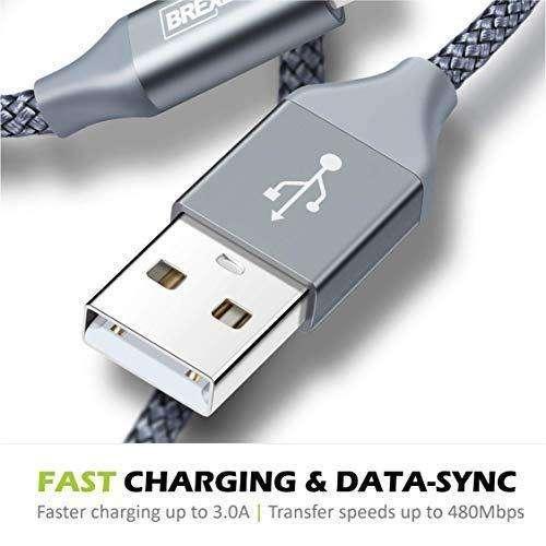 Cable USB a Micro USB 2.0 Nylon trenzado 2 Metros