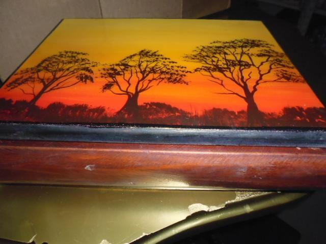 cofre de madera antiguo de 24 cm ancho x 8cem alto 3122802858