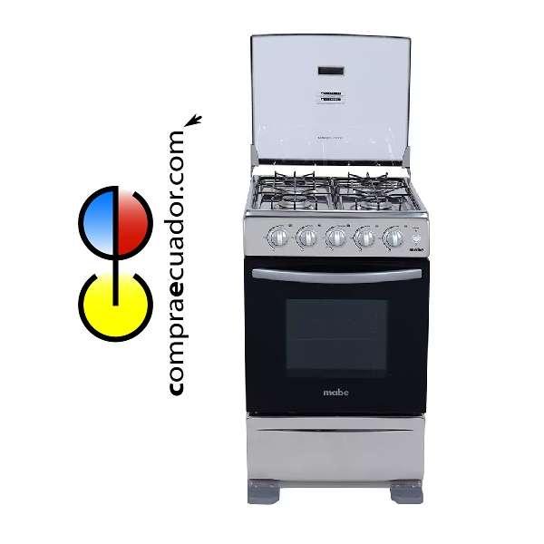 Mabe 5120 Cocina 4 Quemadores a Gas Horno Acero Inoxidable