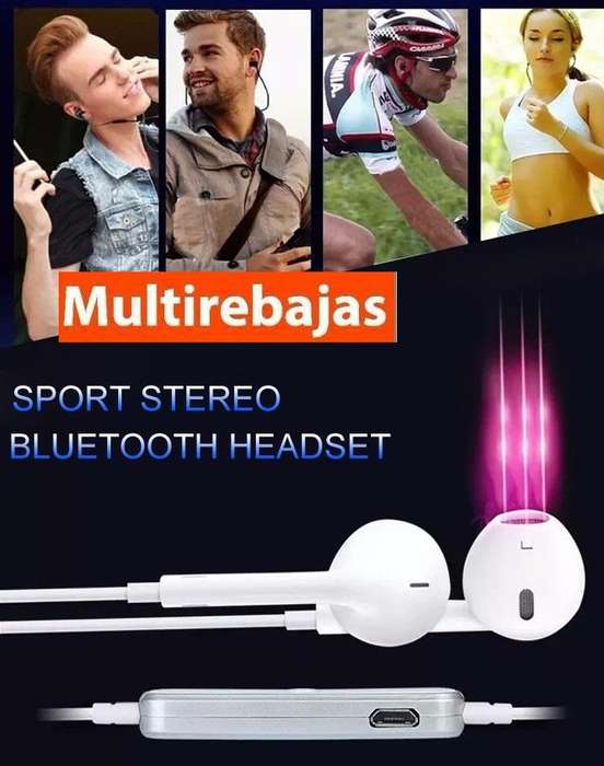 Audifonos <strong>bluetooth</strong> Deportivos Stereo Qy7 Samsung Iphone2018