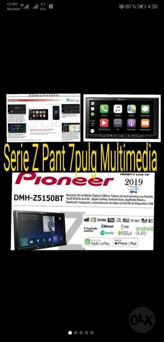 Pioneer Pant 7.0pulg Android iPhone New