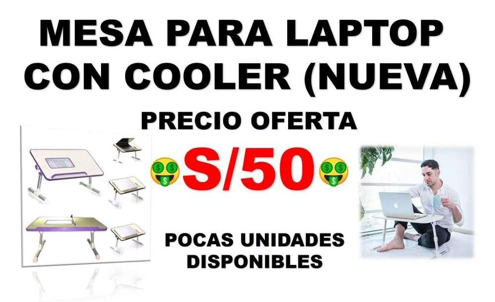 MESA PARA LAPTOP CON COOLER (NUEVA) /SOMOS TIENDA MASTER TEC 1.0