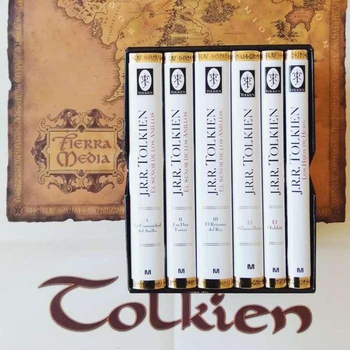 Colección de libros del señor de los anillos y el Hobbit, edición limitada