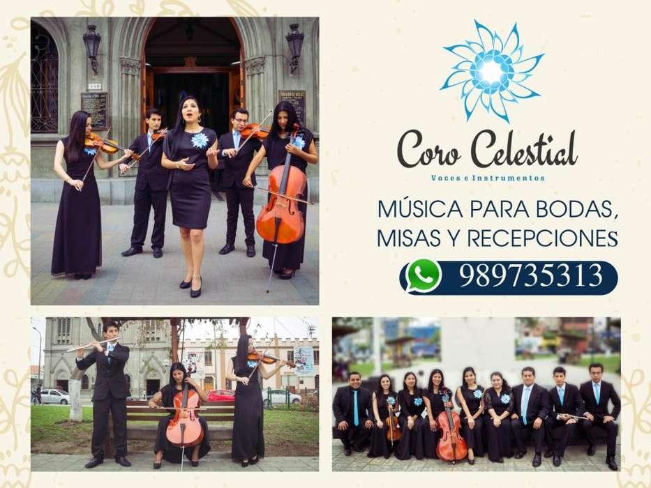 Coro para matrimonios, bodas, civil, religioso, músicos para misas de honras y recepciones.