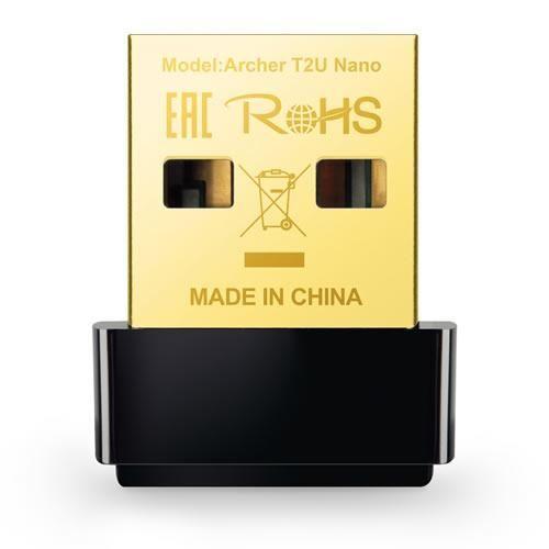 Adaptador Inalámbrico Nano USB TP LINK AC600 Archer T2U Doble Banda