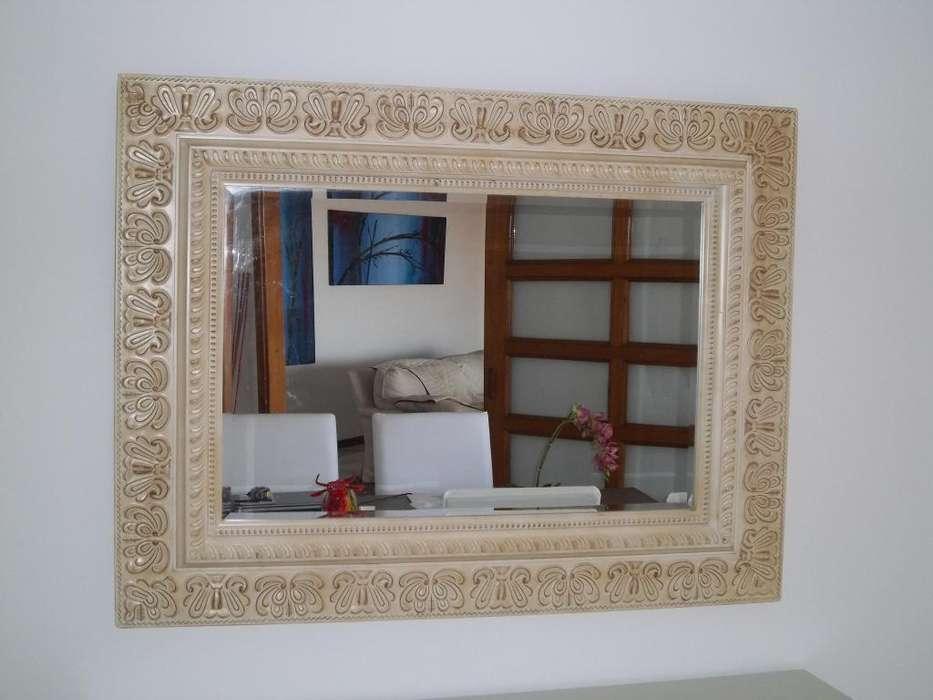 Espejo Decorativo Madera Rectangular