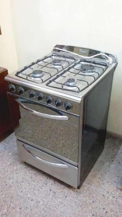 Cocina A Gas Whirlpool - Acero Inoxidable - Excelente Estado