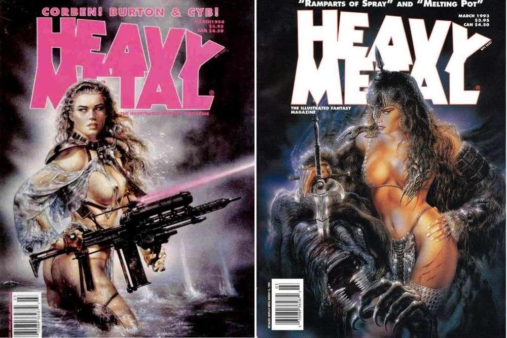 Revistas ORIGINALES Heavy Metal de Fantasía Ilustrada Fascículos de los años 80's 90's