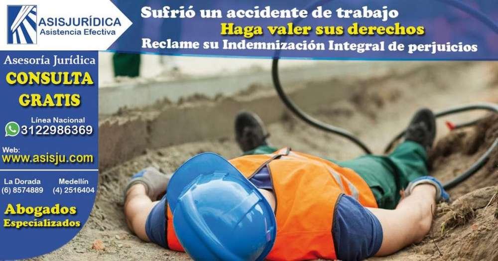 Abogados Especializados en Derecho pora Indemnización por accidente laboral