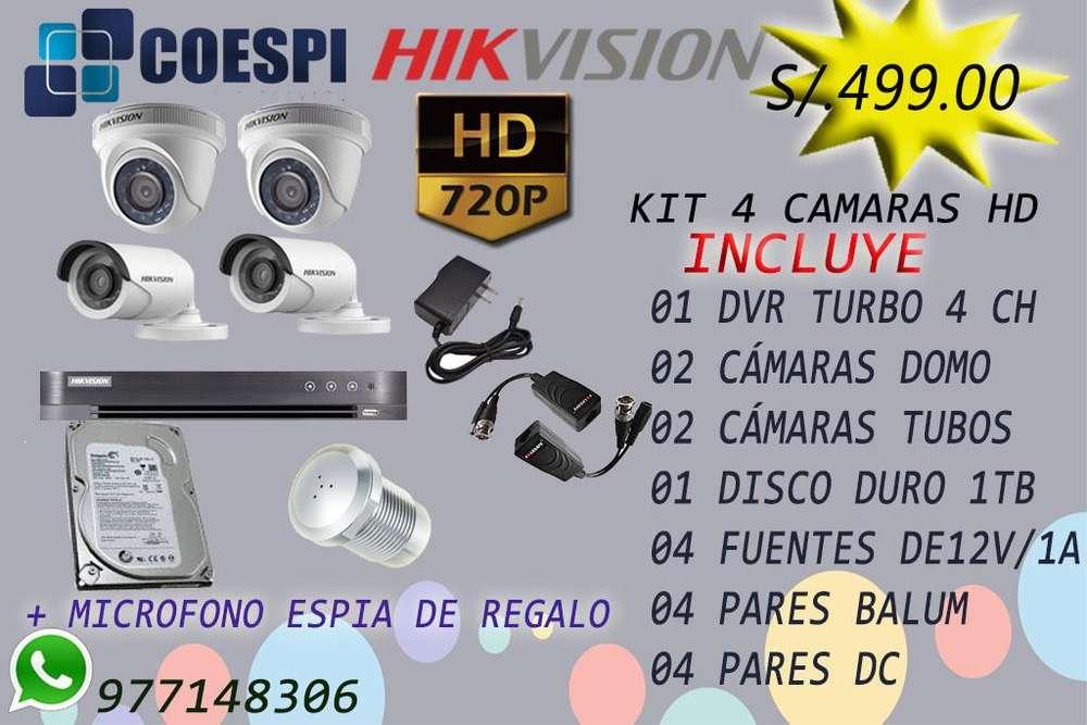 CAMARAS DE SEGURIDAD HD / CERCOS ELECTRICOS / ALARMAS OFERTA CEL 977148306