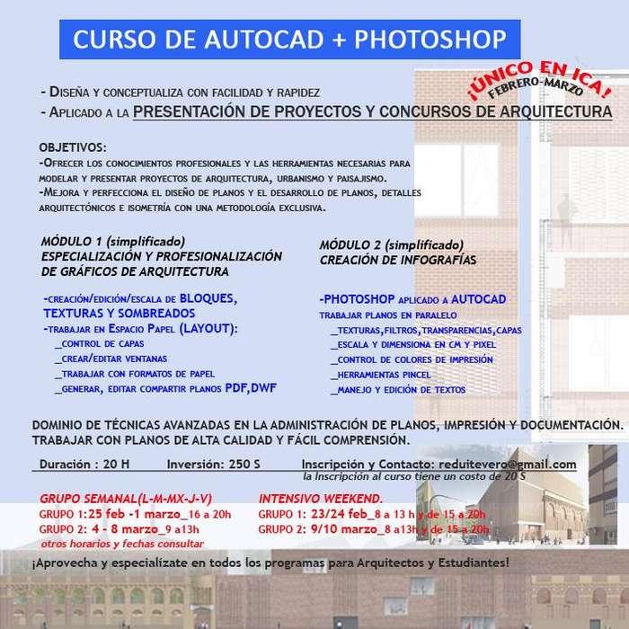 CURSO DE AUTOCAD PHOTOSHOP
