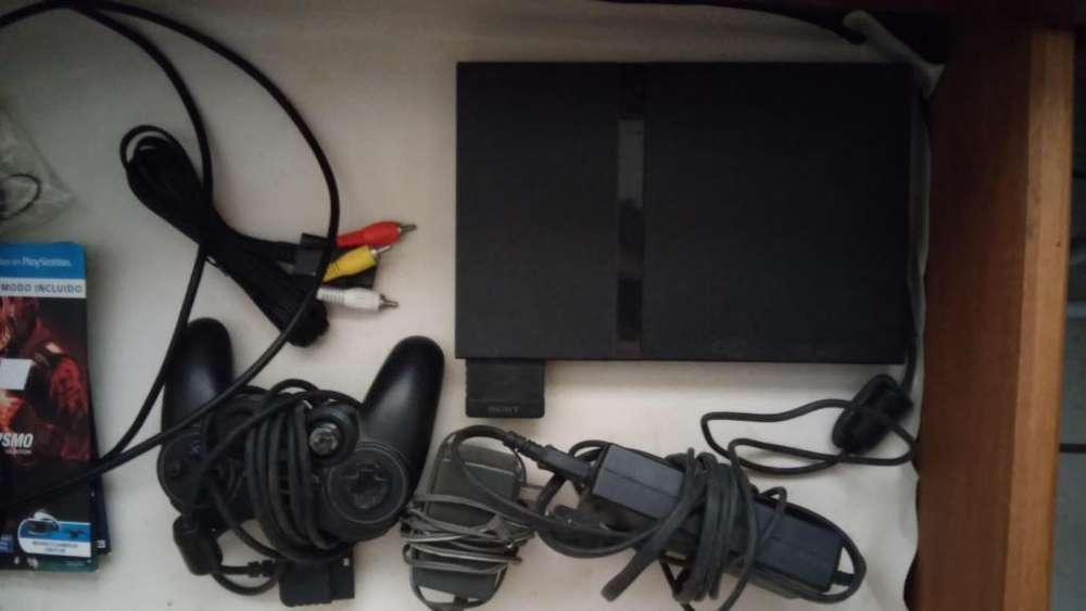 Play station 2 slim con memory card y control