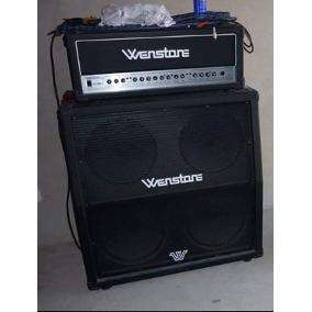 Amplificador wenstone tubetronic ge 1600 h. prevalvular combo. mas caja 4x12 eminence y footswich.