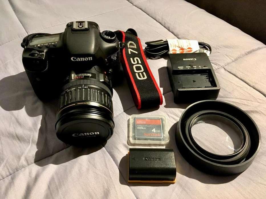 Camara Canon Eos 7D 18 Pixeles S/.2,600
