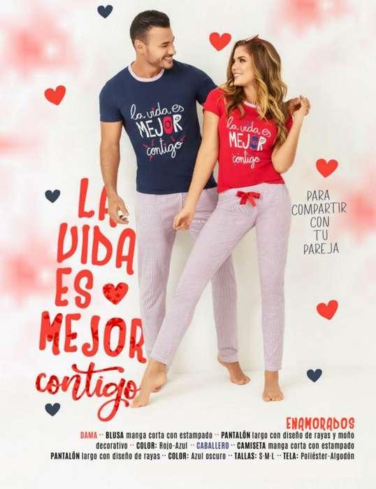 Pijamas para parejas amor y amistad