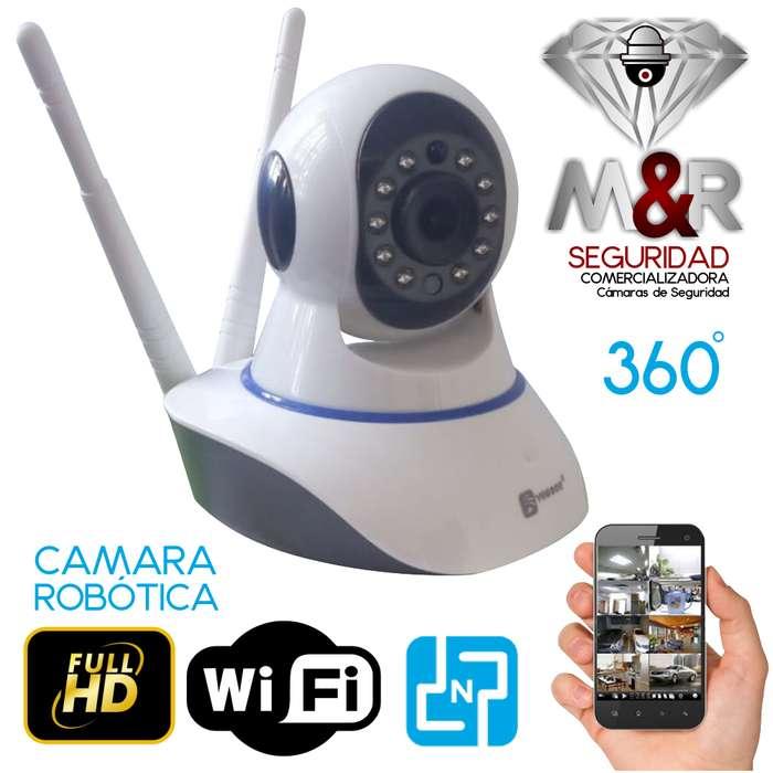 CAMARA IP ROBOTICA WIFI ROTARIA 360 GRADOS HD