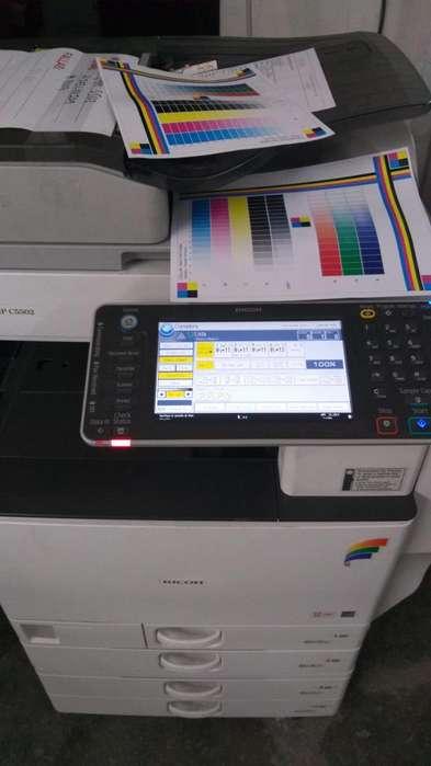 vendo fotocopiadora multifuncional a color casi nueva, muy economica