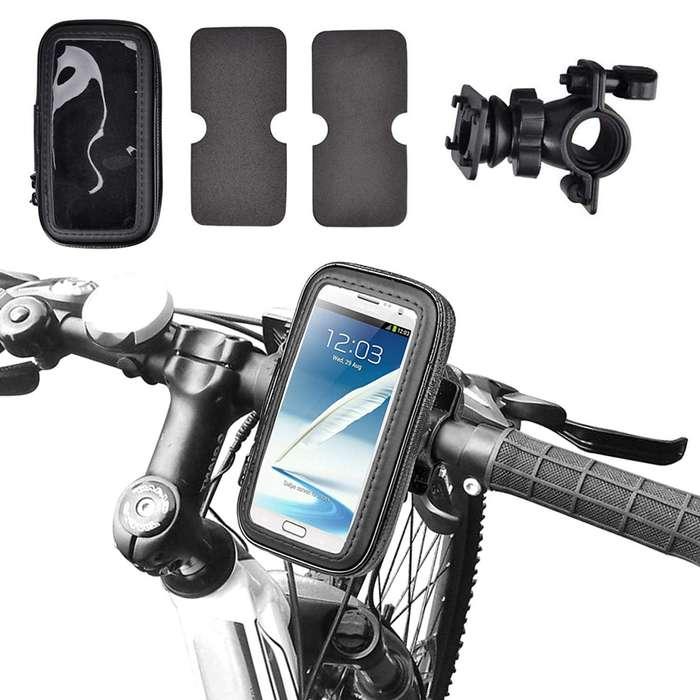 Soporte Para Celular Moto Bicicleta Impermeable Estuche 360