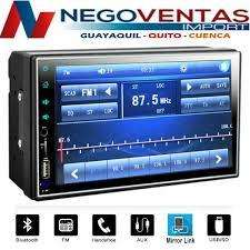 RADIO DOBLE DIN MP5 FULL TOUCH BT USB AUXILIAR FM MIRRO LINK
