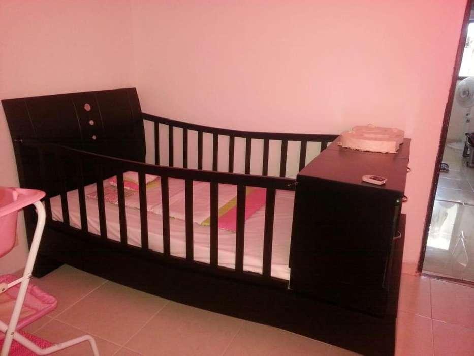 Camacuna Cuna Corral en Madera cama auxiliar Organizador color wengue