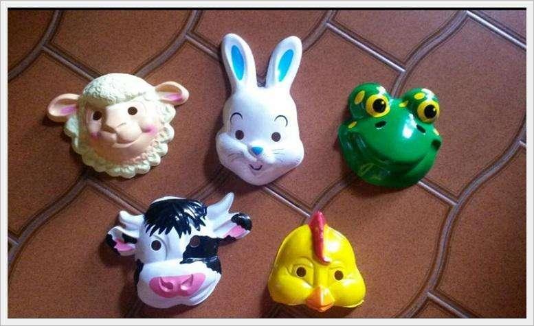 Mascaras de animales DE LA GRANJA