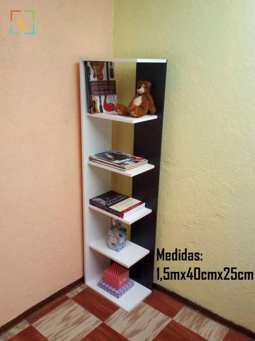 Librero Estante Esquinero Moderno Entrega Sin Costo Adicional
