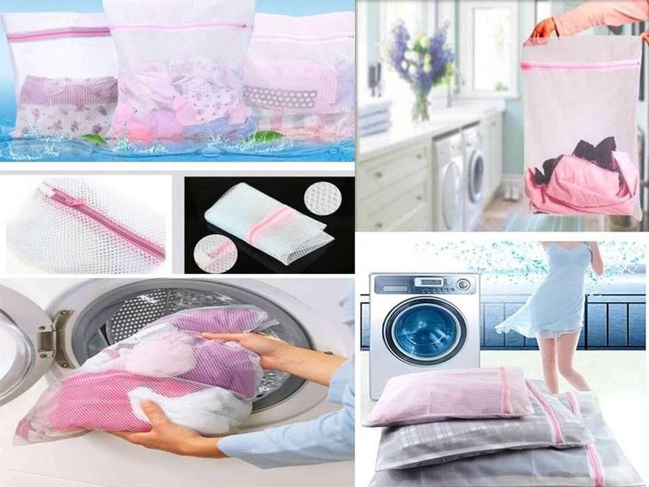 Bolsa Malla para Lavar Ropa en <strong>lavadora</strong>