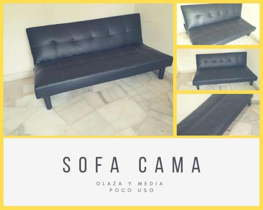 Hermoso Sofa Cama de Cuero