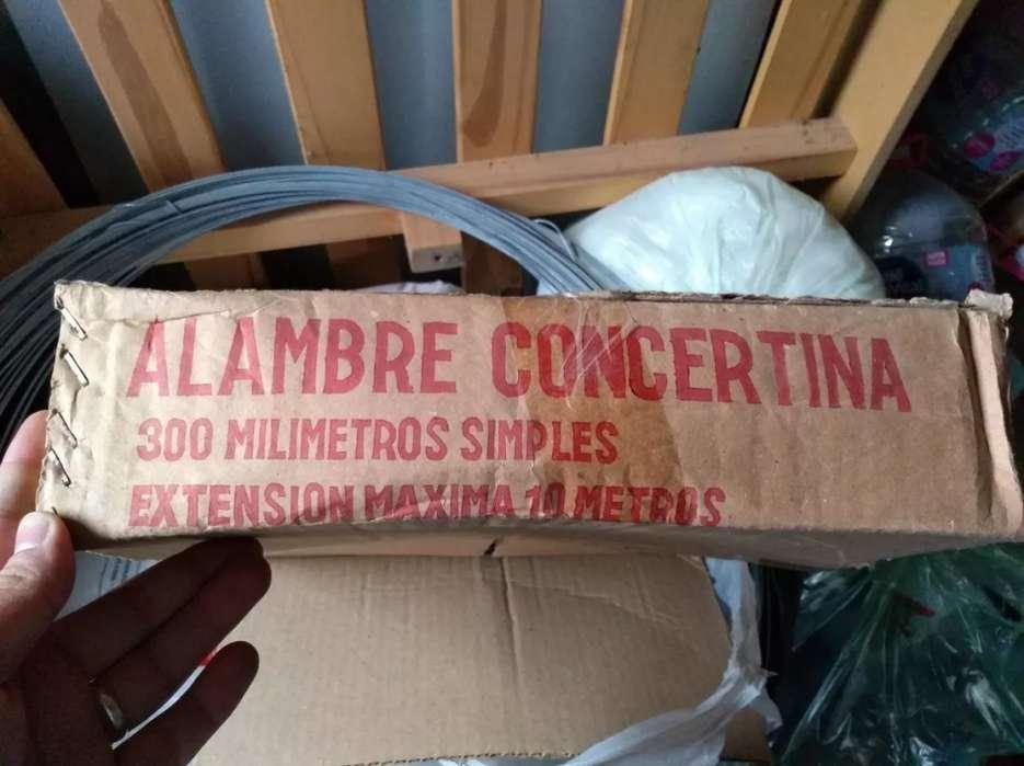 Alambre Concertina Simple 300 Mm 10 Metros