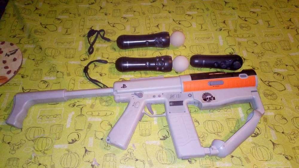 Pistola de Playstation 3 con Dos Move!