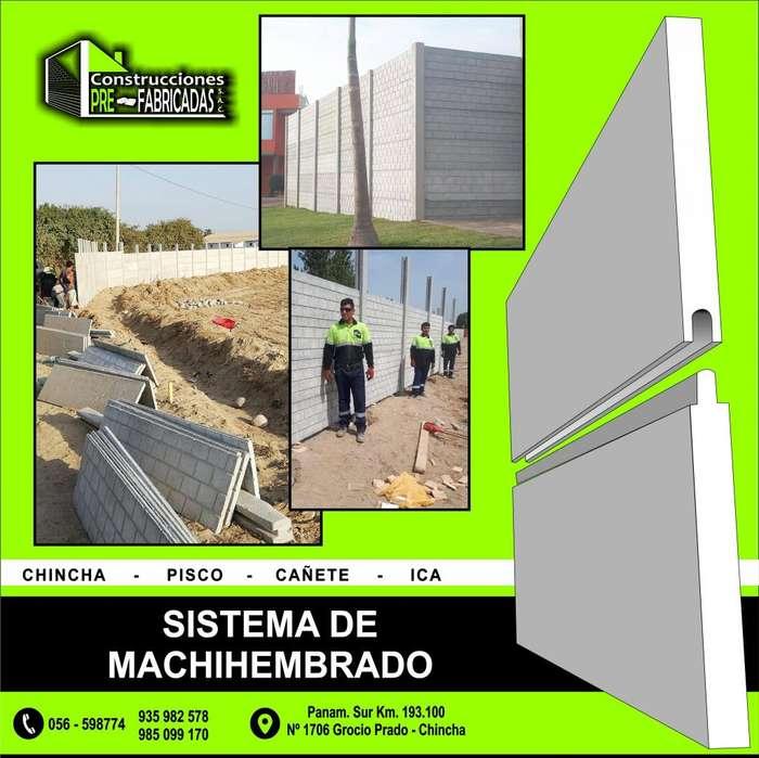cercos prefabricados y casa de concreto