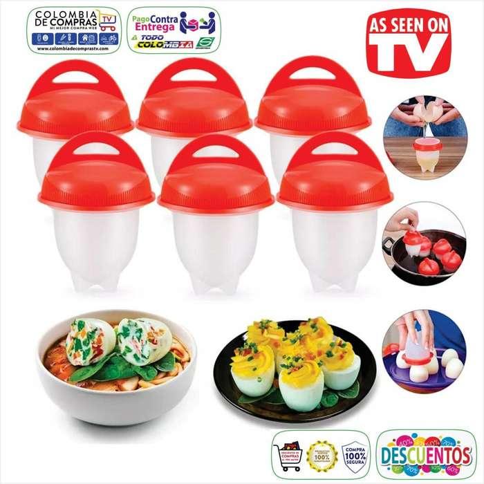 Hervidor de Huevos TV Egg Boil x 6 unidades, En Silicona, Nuevos, Originales, Garantizadas...